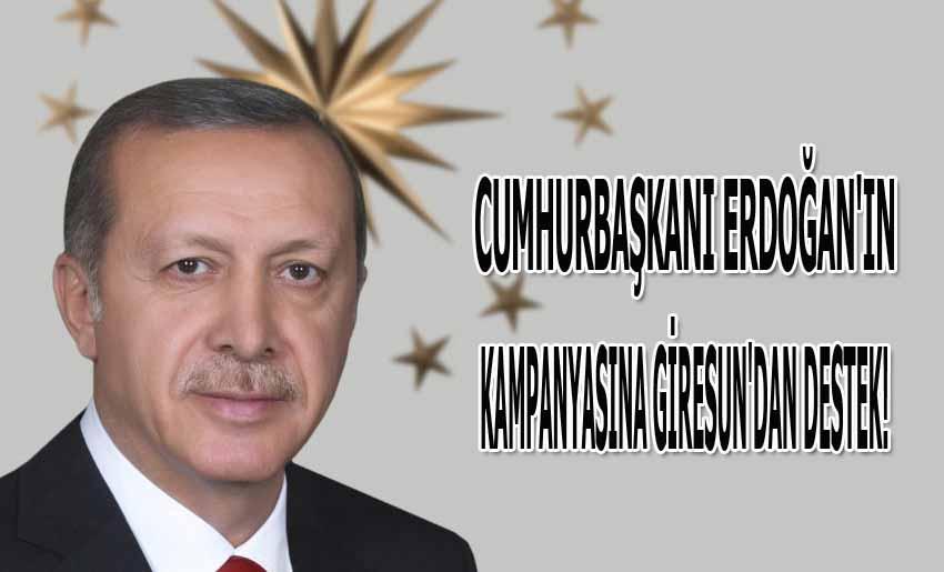 Cumhurbaşkanı Erdoğan'ın kampanyasına Giresun'dan destek!