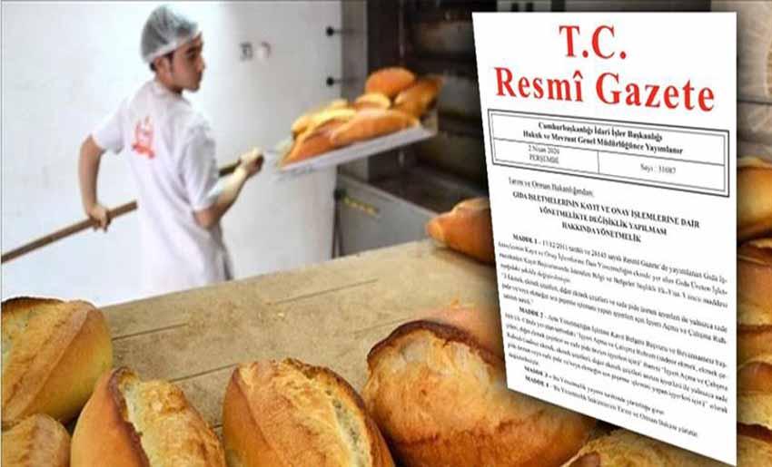 Ekmek pişirme işlemi yapan iş yerlerine ruhsat şartı