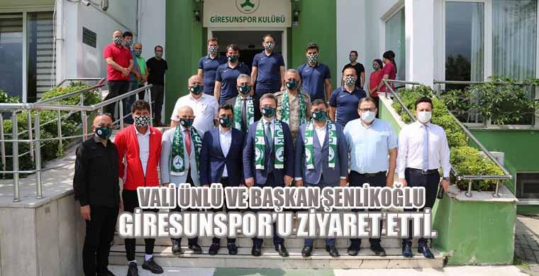 Vali Ünlü ve Başkan Şenlikoğlu Giresunspor u Ziyaret Etti