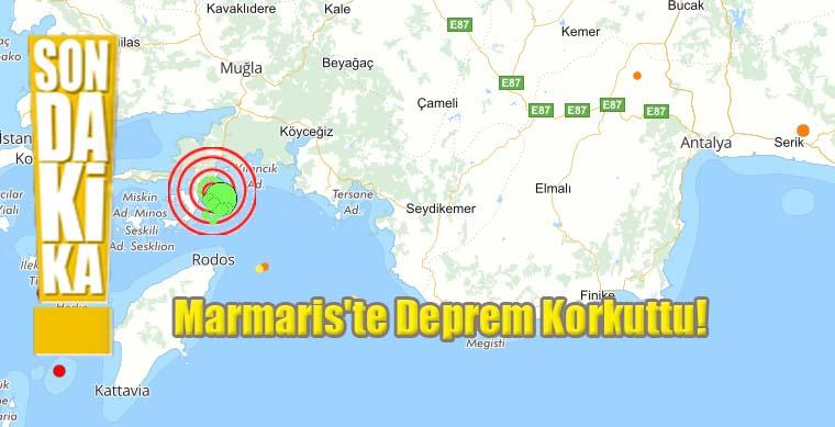 Marmaris'te Deprem Korkuttu!