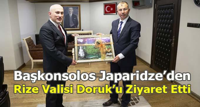 Başkonsolos Japaridze'den Rize Valisi Doruk'u Ziyaret Etti