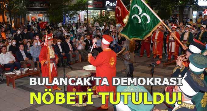 Bulancak'ta Demokrasi Nöbeti Tutuldu!