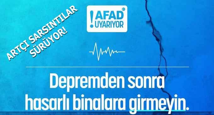 İzmir'de Artçı Sarsıntılar sürüyor!