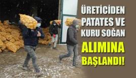 Üreticiden Patates Ve Kuru Soğan Alımına Başlandı!