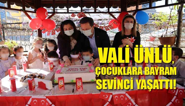Vali Ünlü, Çocuklara Bayram Sevinci Yaşattı!