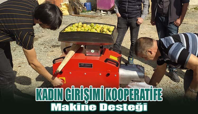 Kadın Girişimi Kooperatife Makine Desteği
