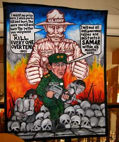 Yesterday and Today: Mural compares Gen. Jacob Smith to Maj. Gen. Jovito Palparan, Jr.