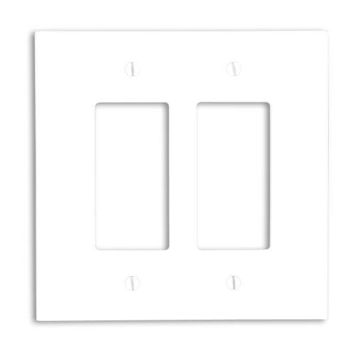 Leviton 88602 2-Gang Decora/GFCI Device Decora Wallplate