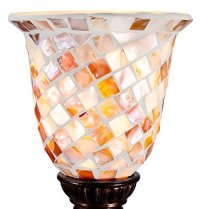 Mosaic Ivory Glass Uplight Accent Lamp  Bulbs & Fittings ...