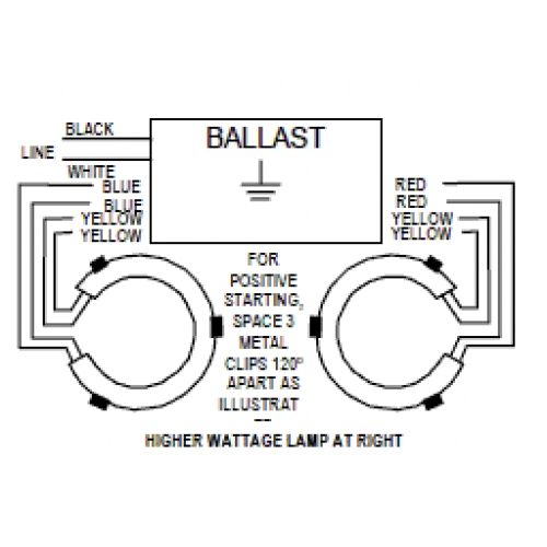 wiring diagram for ballast