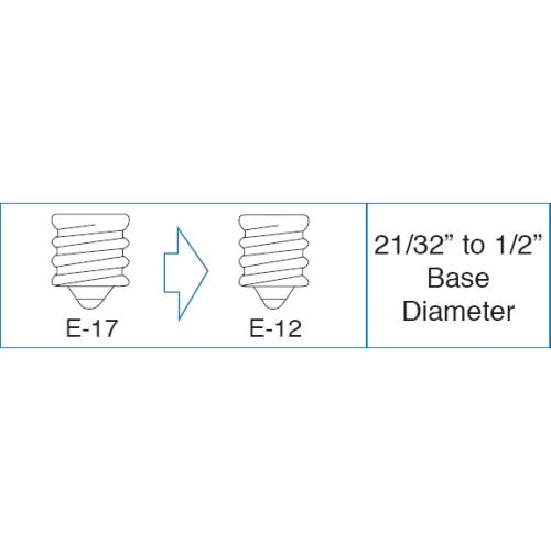 E17-> E12 Socket Reducer Intermediate To Candelabra