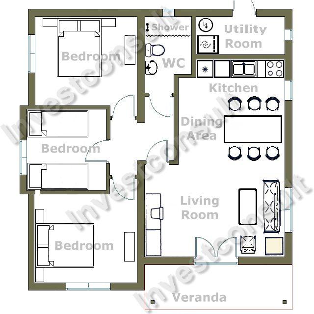 3 Bedroom House Floor Plans Home Decorating Ideas Flockee Com