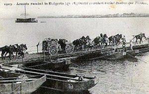 Румънски войски прекосяват Дунав