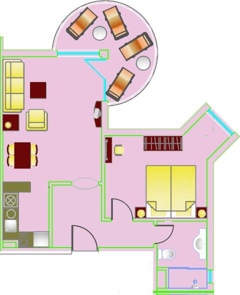 Floor Plans Of One Bedroom Apartment In Sunset Resort