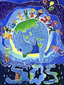 """През 2007 година българче грабна второто място в конкурса за детска рисунка на Програмата на ООН за околна среда. Авторите на 15 000 рисунки от цял свят участваха в конкурса. UNEP оповести победителите в Международния детски конкурс за рисунка на екологична тема. Тогава темата беше """"Промяна в климата"""" и конкурсът бе отворен за деца между 6 и 14 години и се провежда от 1990 година насам, като до този момент са участвали около 300 000 деца от повече от 100 държави. За 2007-ма на първо място в света бе Шарлот Съливън (12 г.) от Великобритания, а на второ дванадесет годишната Полина Здравкова Петкова от село Ореш, община Свищов. Най-добрите творби бяха избрани измежду 15 000 рисунки от цял свят, като между първите 200 имаше още 41 рисунки на български деца. ФОТО:бггоричка"""