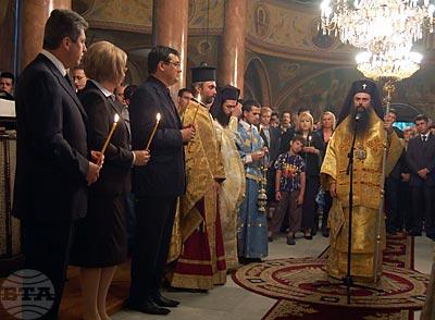 ловдив, 6 септември 2009 Президентът Георги Първанов и председателят на Народното събрание Цецка Цачева присъстваха на заупокойната молитва в храм