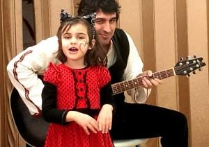4-годишната Дара и татко Калин. Българско училище Лос Анджелис, Школа по Родолюбие
