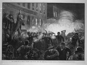 Аферата Haymarket (известен също като клането Haymarket или Haymarket безредиците) се отнася до последиците от бомбен атентат, който се състоя в демонстрация на труда във вторник, 04 май 1886, на площад Haymarket [2] в Чикаго.