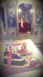 Икоаната за празника Рождение Богородично бе изнесена в Храм