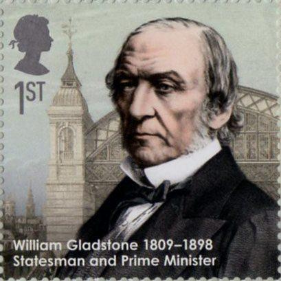 Пощенска марка с образа на Уилям Гладстон