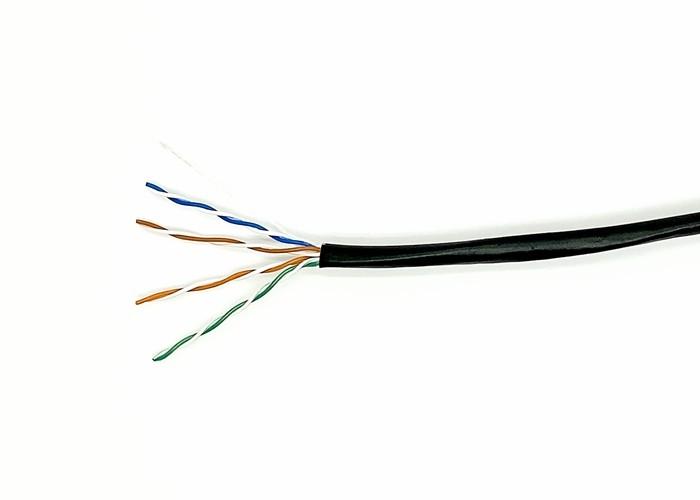 Black PE-UV UTP Bulk CAT5E Cable PE UV Resistant Sheath