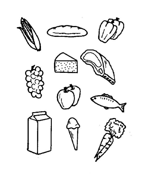 Food Pantry Coloring Page Coloring Pages