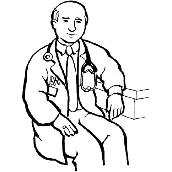 Hospital Worker Coloring Page Coloring Pages