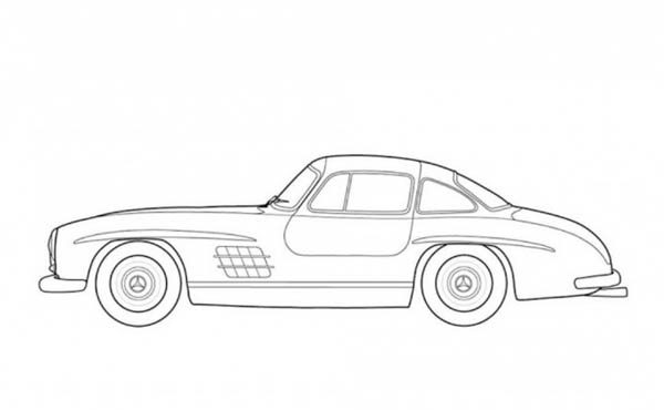 Chrysler 300 Car Drawing Sketch Coloring Page
