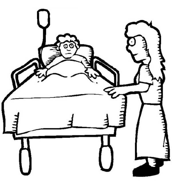Hospital Beds Coloring Pages