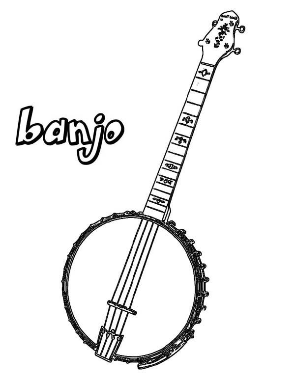 Mandolin Coloring Pages