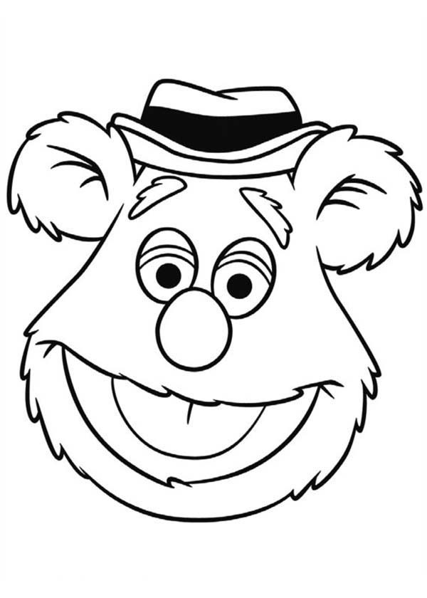 Free fozzie bear coloring pages