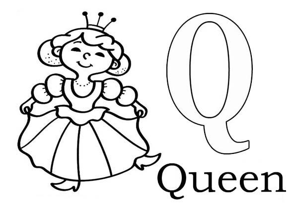 q coloring page  food ideas