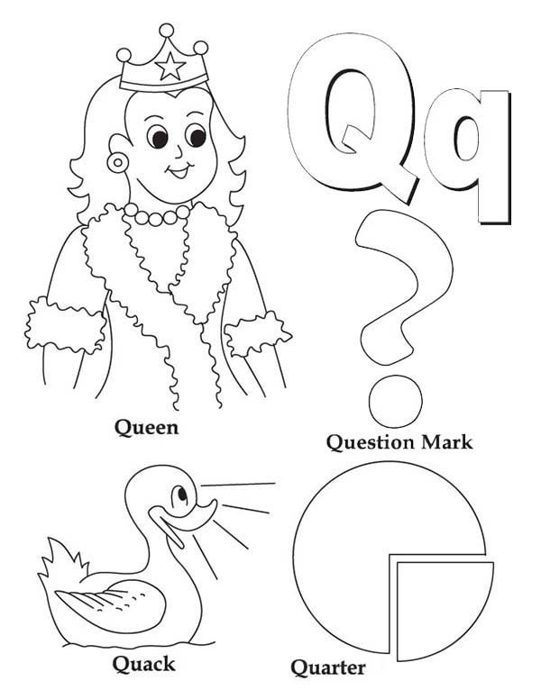 Q Coloring SheetColoringPrintable Coloring Pages Free Download