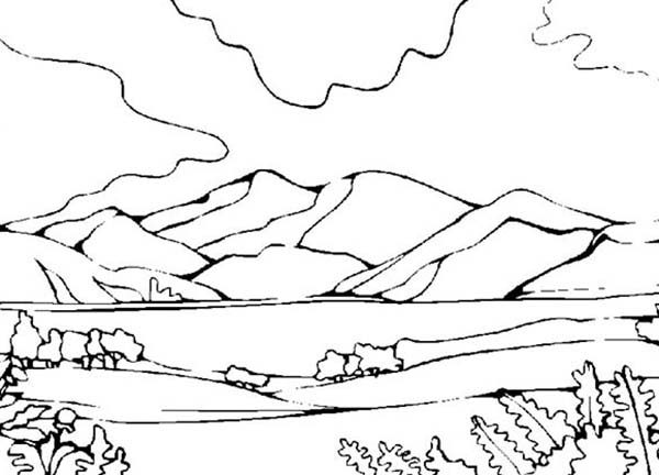 25+ Mountain Landscape Coloring Pages Advanced Advanced Pictures and ...