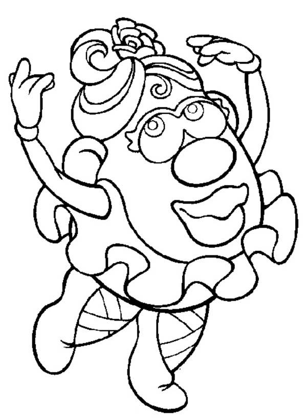 mr potato head coloring pages # 64