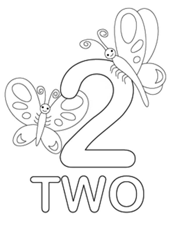 Number 2 Coloring Gallery