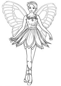 Barbie Mariposa coloring pages on Coloring-Book.info | 280x200