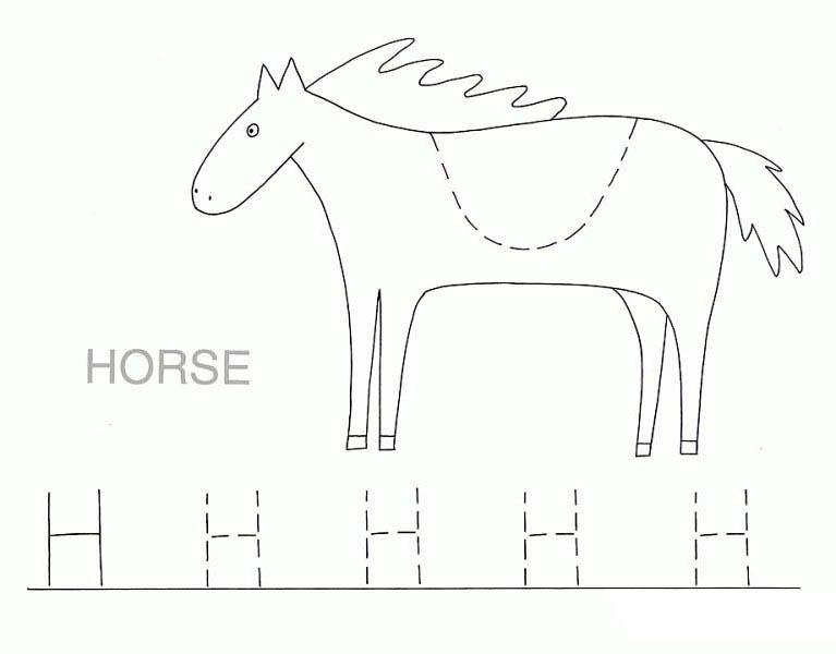 Preschool Worksheets » Letter H Preschool Worksheets