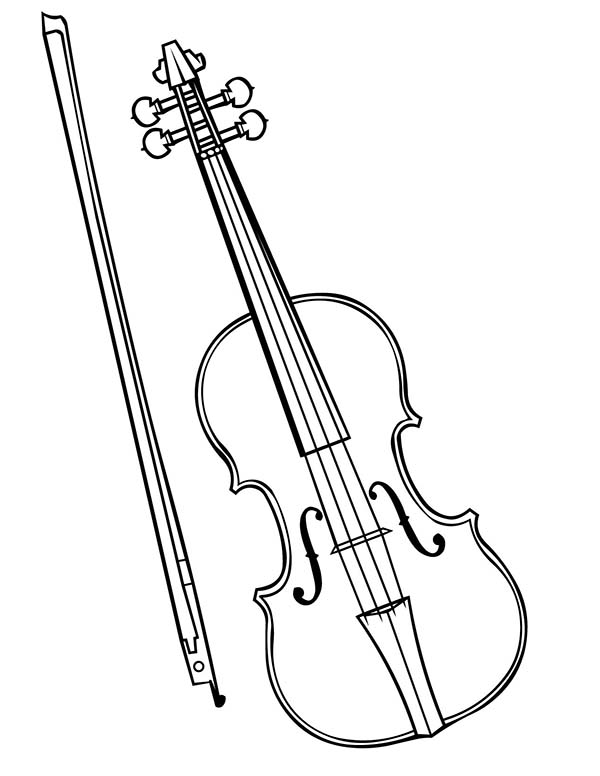 Fiddle Colouring Pages Sketch Coloring Page