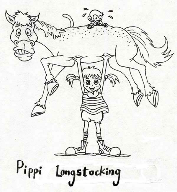 Pippis Coloring Pages Blog With Sketch Coloring Page