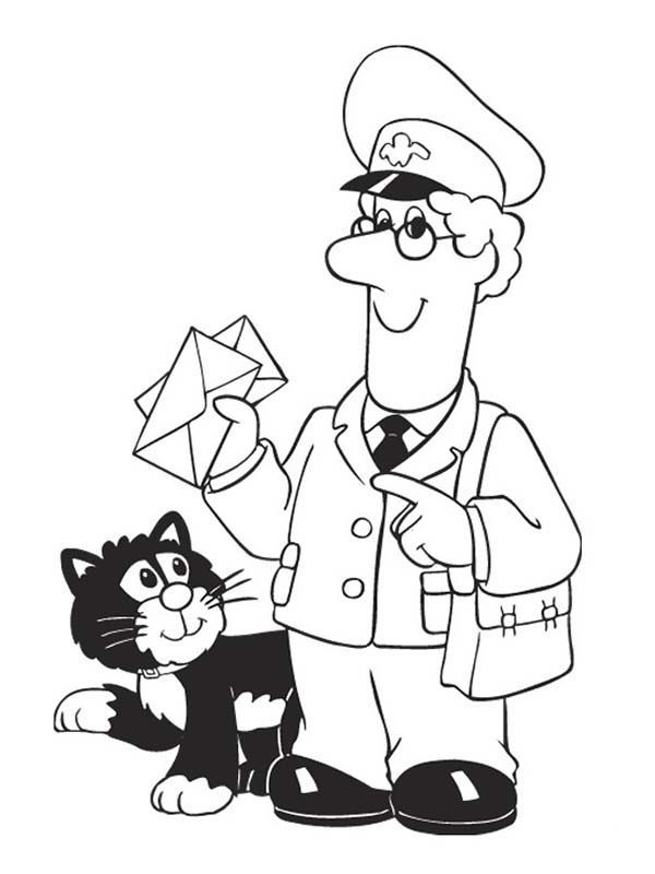 Postman Clipart Black And White