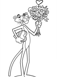 Pink Panther - Free Coloring Pages