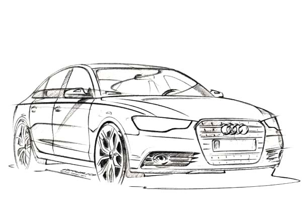Audi Police Car Coloring Coloring Pages