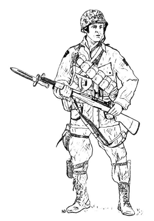 Army Paratrooper Coloring Pages Coloring Pages