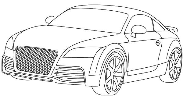 Car Audi R8 Coloring Pages