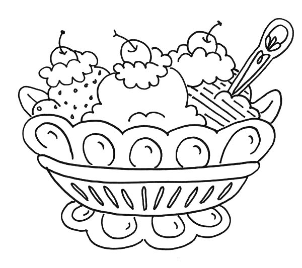 Sundae Coloring Sheets To Print Coloring Pages