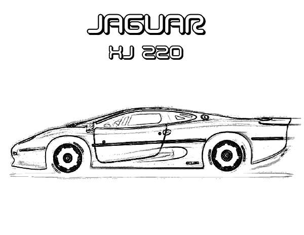 Jaguar Car Drawings Sketches Sketch Coloring Page