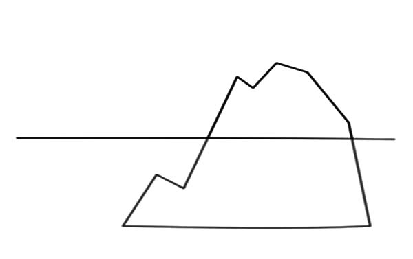 Related Keywords & Suggestions for iceberg line drawing