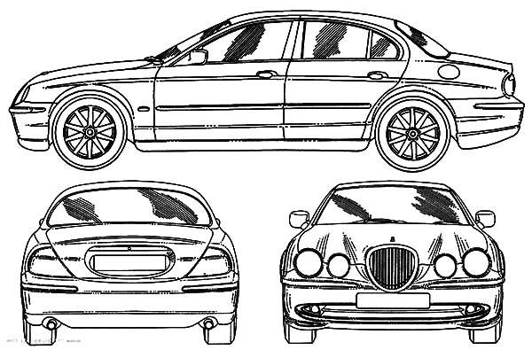 Jaguar Car Coloring Pages