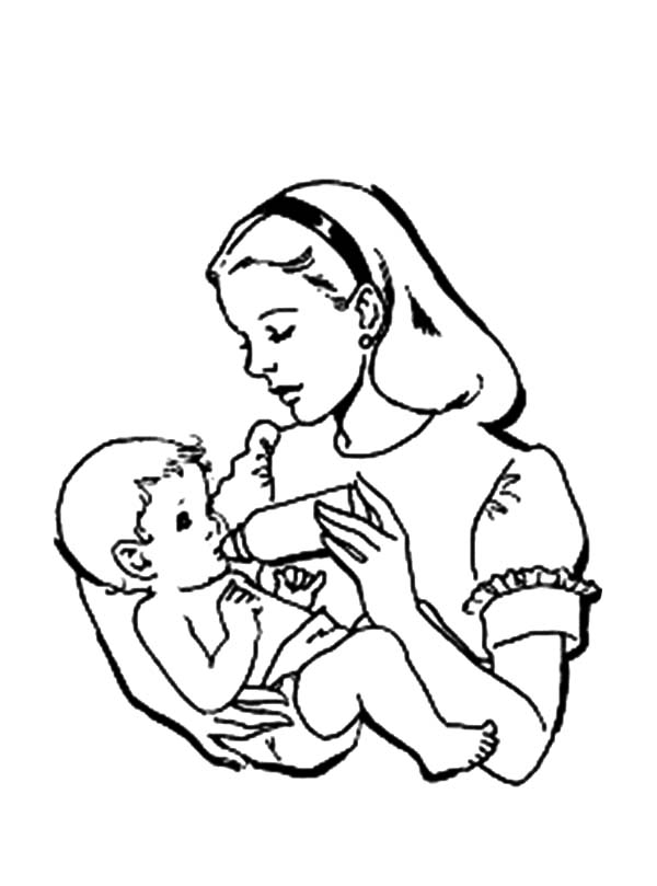 Newborn Baby Coloring Pages Coloring Pages